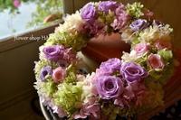 ご結婚祝いに♪プリザーブドフラワーリース。 - 花色~あなたの好きなお花屋さんになりたい~