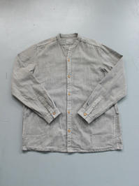 THE HINOKI Linen Cotton Stand Up Collar Shirt - 『Bumpkins putting on airs』