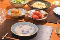 台風一過の日の夕食 - まほろば食日記