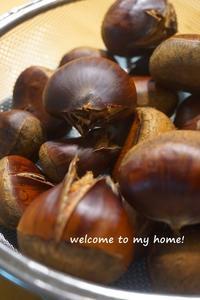 栗仕事◆鬼皮も、手で剥ける?! - welcome to my home!