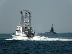 9月19日(火)、川崎重工にそうりゅう型潜水艦が入りました -