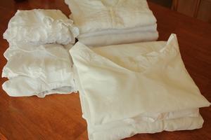 3連休は白物衣料を洗濯しました。 - はぐくむキッチン