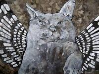 歪な羽根を持つ白猫(イビツナハネヲモツシロネコ) - スズキヨシカズ幻燈画室