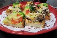 バジルとカレーのパンピザ - Mme.Sacicoの東京お昼ごはん