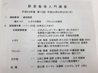 野菜栽培入門講座  no11 - チェロママ日記