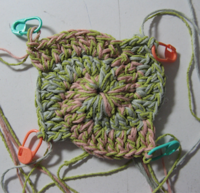 2 color spiral crochet - hand made作品販売
