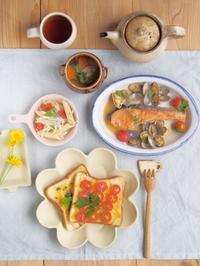 チーズトーストとサーモンと - 陶器通販・益子焼 雑貨手作り陶器のサイトショップ 木のねのブログ