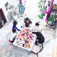 大好きな笑顔が集まる場所 - nico☆nicoな暮らし~絵付けと花とおやつ