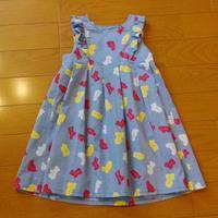 ノースリーブワンピース2 - どこまで出来るかハンドメイド子供服。
