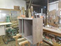 カップボードの組み立て - 手作り家具工房の記録