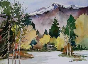 新入生 - ちょっとシニアチック Watercolor by Osamu 水彩画家のロス日記 Watercolorist Diary