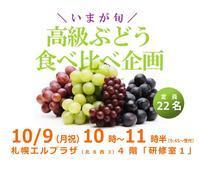 10月9日(月祝)高級ぶどう食べくらべ企画のご案内 - 野菜ソムリエコミュニティ 札幌
