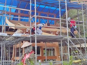 鐘楼の建て替え - 浦佐地域づくり協議会のブログ