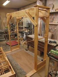 うんていNタイプW2050×H2000×D970 ブランコ式ぶら下がり練習棒2本 可動式登り棒 - MAGINU STYLE by Art Furniture Gallery
