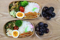 カレー風味の生姜焼き弁当(^0_0^) - オヤコベントウ & コトリのおはなし