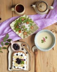 スモアトーストの朝ごはん - 陶器通販・益子焼 雑貨手作り陶器のサイトショップ 木のねのブログ