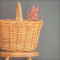 紅籐のハンドルバスケット - 雑貨店PiPPi
