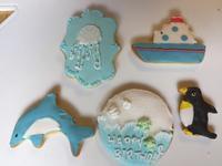 海のいきものアイシングクッキーレッスン - 調布の小さな手作りお菓子・パン教室 アトリエタルトタタン