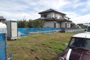 「萩島の家」丁張確認 -