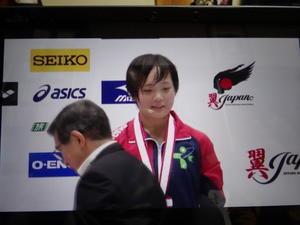 メイ高飛込:銅メダル・・・「第93回日本選手権水泳競技大会:飛込競技」第2日目 -