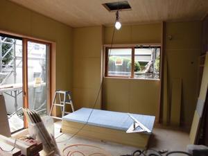 南林間のエコハウス外壁の塗装が終わりました - 建築家とつくる木の家 光設計の「呼吸する住まい」