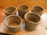 ■穴窯用カップ&徳利<成形> - 陶芸ブログ・さるのやきもの