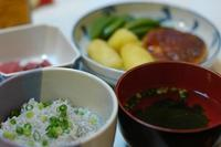 夕ご飯/豆腐ハンバーグ+カツオの刺身 - おいしい日記