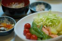 夕ご飯/温野菜と小エビのサラダ - おいしい日記