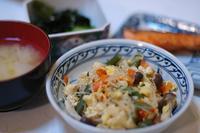 夕ご飯/焼き鮭・中華風炒り豆腐 - おいしい日記