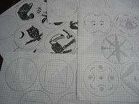 ■陶芸(デザイン):マルだらけ・・・豆皿の絵柄を考えてます - 陶芸ブログ・さるのやきもの