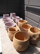 ■陶芸(作陶): ひなたぼっこ中七輪陶芸用ぐい呑 - 陶芸ブログ・さるのやきもの