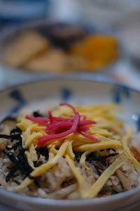 アナゴのちらし寿司 - おいしい日記