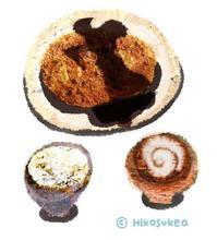 コロッケと御飯と麩のみそ汁の絵 - ユル・いんしょう派の系譜