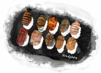 お寿司の絵 - ユル・いんしょう派の系譜