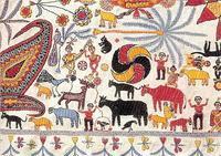 ■手仕事の素晴しさ!「インド・大地の布」展 - 陶芸ブログ・さるのやきもの