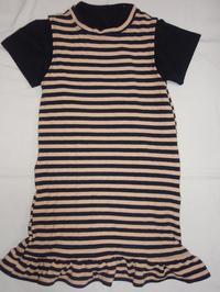 38.ストライプのワンピース(2008.12.23) - ★キラキラ手作り子供服