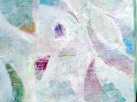 白い抽象画その2 - 津野千佳 アートの日記