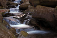 凍てつく渓流と滝、小菅村にて - デジカメ写真集