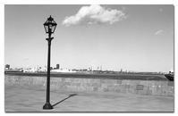 #2526雲と街灯 - at the port