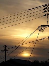 1月19日大寒の夕空 - 風まかせ、カメラまかせ