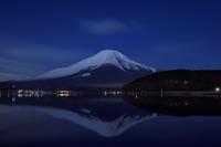 満月に映える逆さ富士@山中湖 - デジカメ写真集