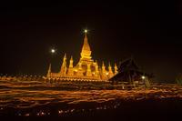 Laos旅行-(24)満月のタート・ルアン祭@Viang Chan - デジカメ写真集