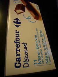 【チョコレートCHOCOLAT】スーパーのチョコレートCarrefour Discount(PARIS) - フランス美食村