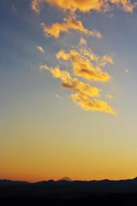 夕焼け雲@多峯主山 - デジカメ写真集