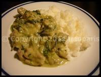 【ウチ料理】Green Curryグリーンカレー(パリ) - フランス美食村
