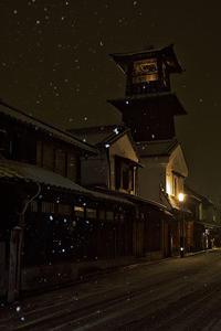 雪の時の鐘@川越 - デジカメ写真集