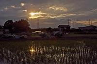 束の間の夕日 - デジカメ写真集