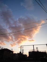 11月20日夕空 - 風まかせ、カメラまかせ