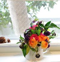 春の花ブーケ作りワークショップ - きままなクラウディア