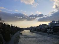 夕暮れの四条大橋から - 小さな時間